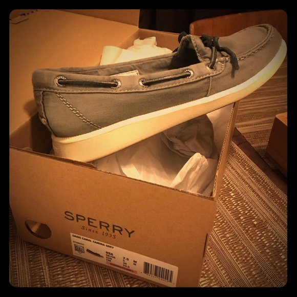 8e268c731679 Sperry Shoes | Oasis Canal Canvas Boat | Poshmark